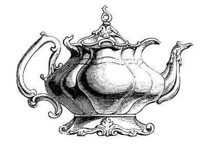 Vintage teapot clipart banner 10 Best Teapot Clipart! | M&TV: ALICE ~ TEA CUPS & POTS ... banner