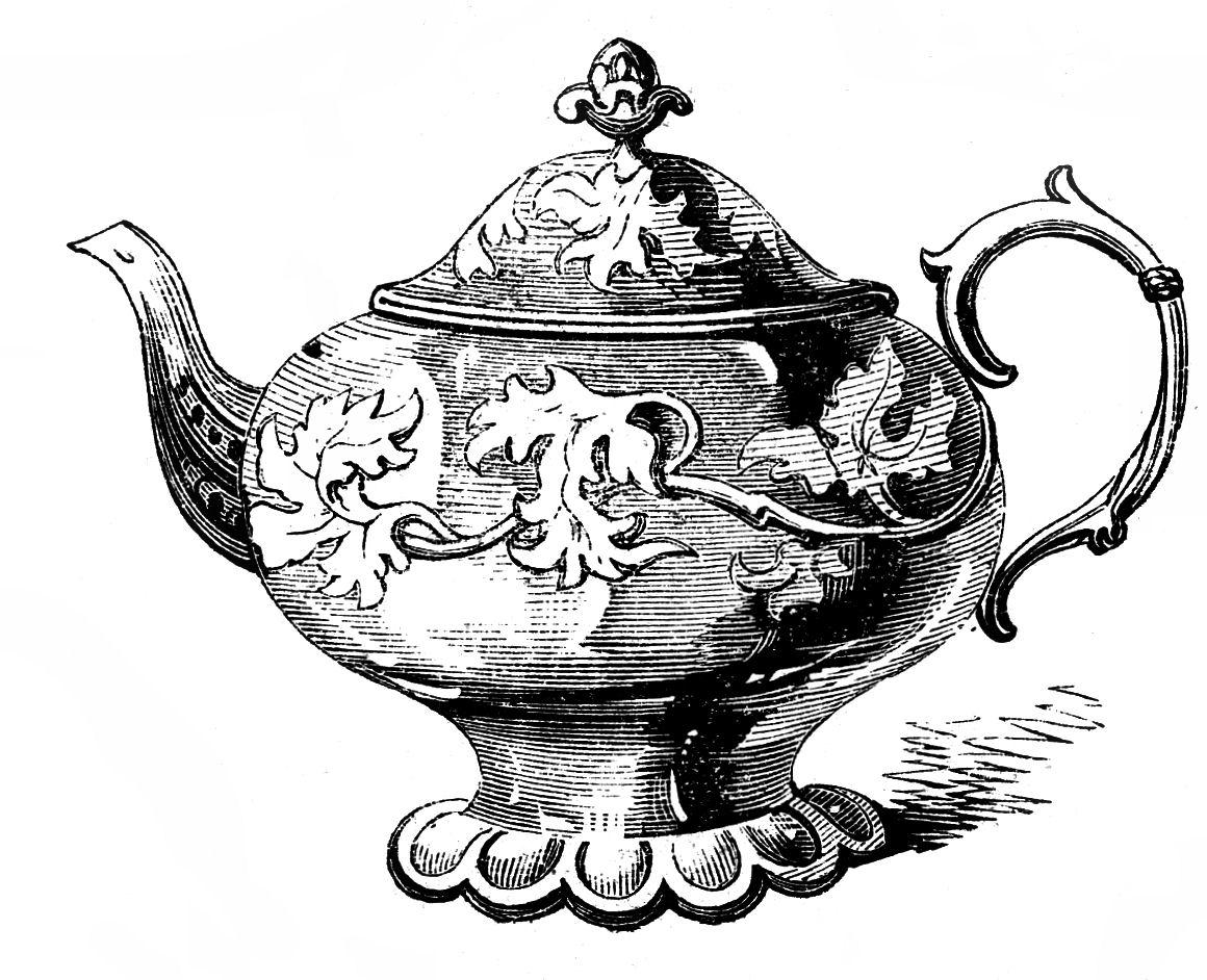 Vintage teapot clipart png freeuse stock 10 Best Teapot Clipart! - The Graphics Fairy png freeuse stock