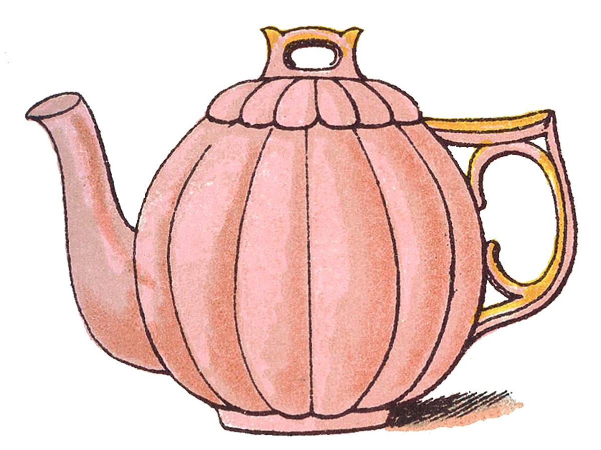 Vintage teapot clipart png download Vintage Clip Art Images - Adorable Pastel Teapots - The ... png download