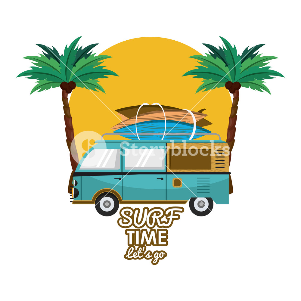Vintage time card clipart vector freeuse library Surf time card with vintage can with tables cartoons vector ... vector freeuse library