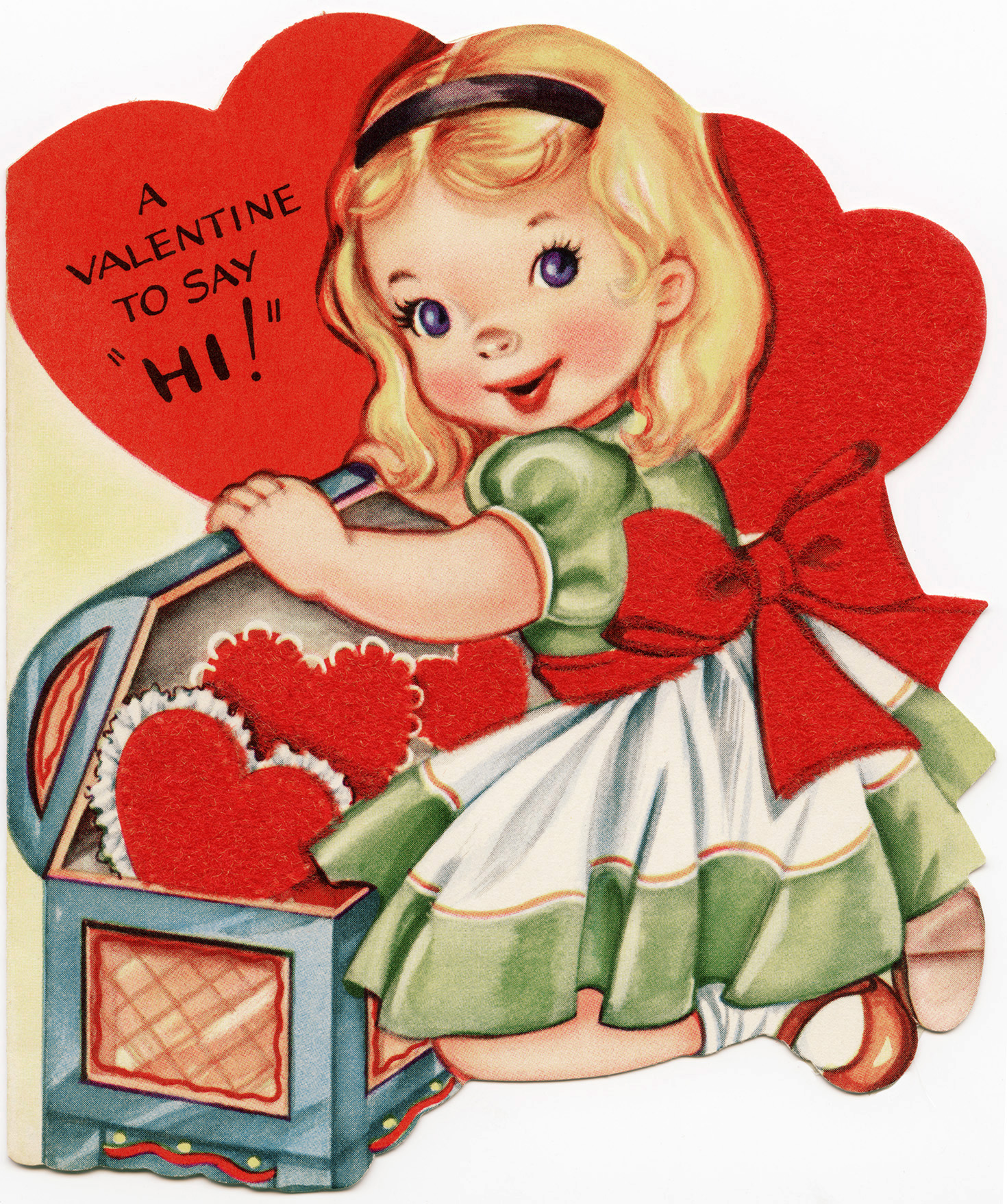 Vintage valentine free clipart banner download Free Vintage Image ~ A Valentine To Say Hi! - Old Design ... banner download