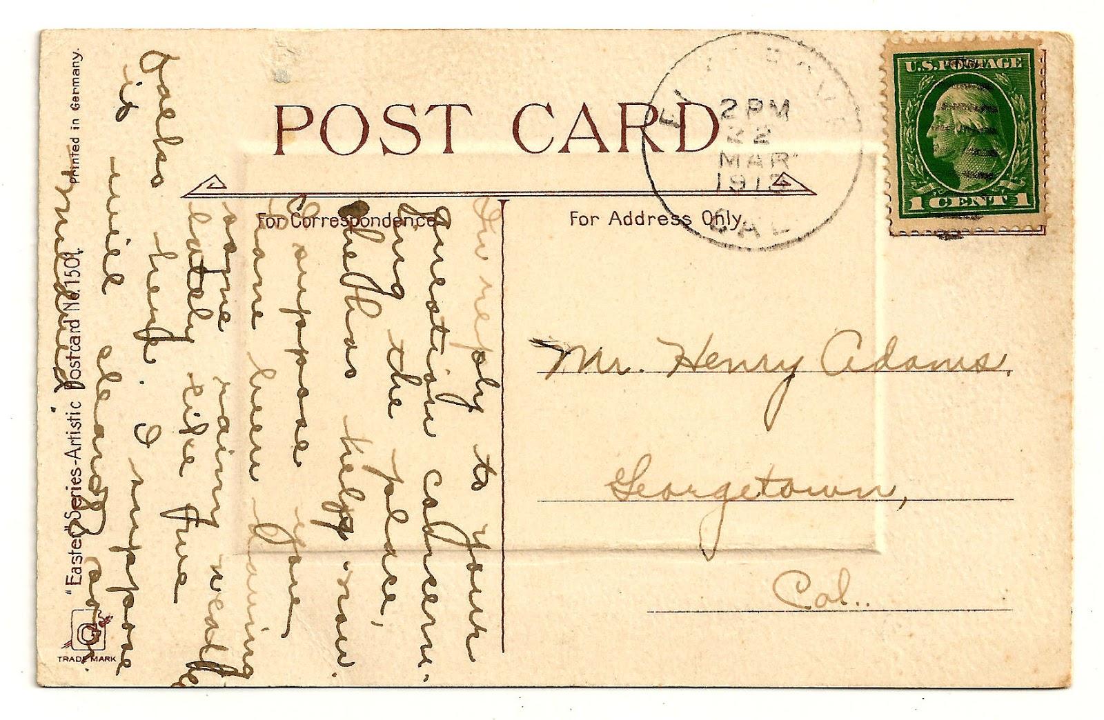 Vintage time card clipart clipart black and white download Antique Images: Vintage Digital Post Card Back Clip Art ... clipart black and white download