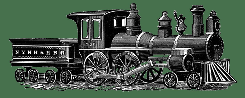 Vintage train clipart picture transparent download Vintage Train Drawing transparent PNG - StickPNG picture transparent download