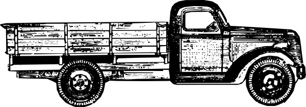 Vintage truck free clipart freeuse stock Old Style Truck clip art Free vector in Open office drawing ... freeuse stock