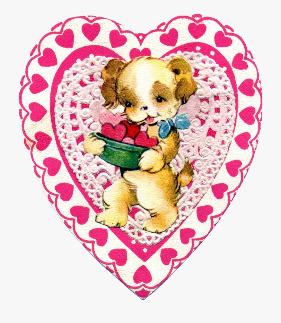 Printable valentine clipart banner transparent Free Vintage Valentine Clipart - Printable Vintage ... banner transparent