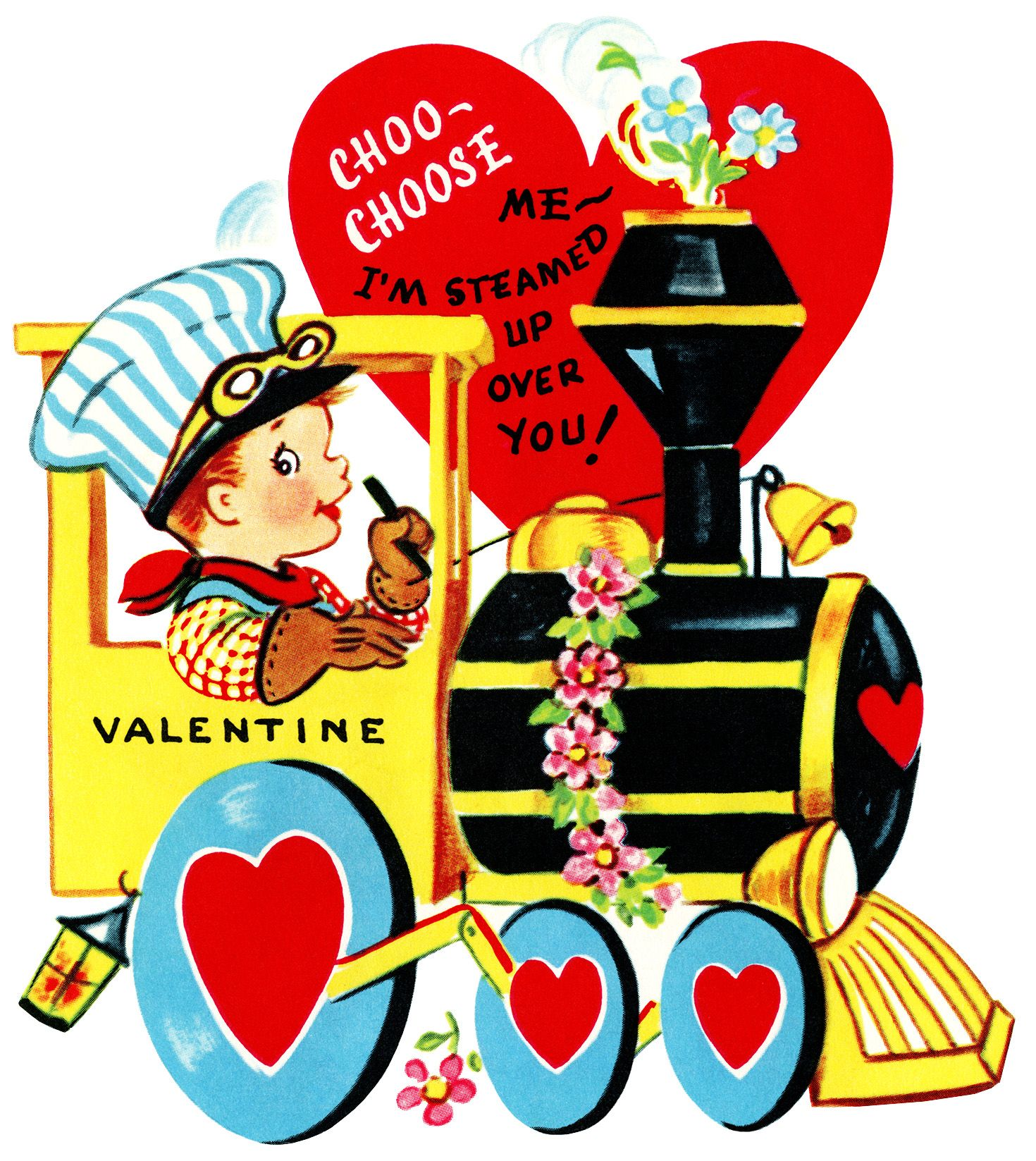 Vintage valentine free clipart transparent download train valentine, vintage valentine clip art, boy engineer ... transparent download