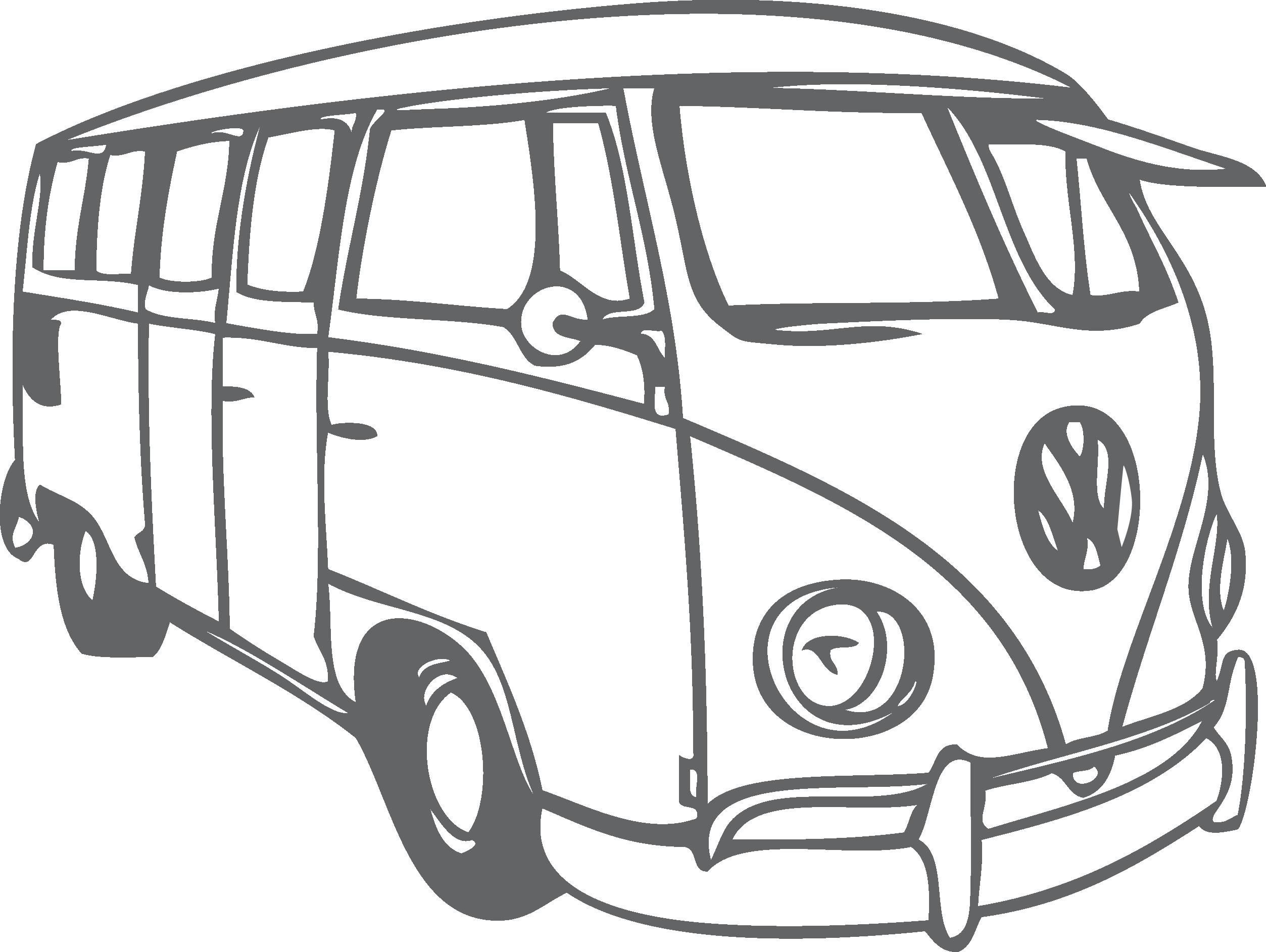 Vintage van clipart black graphic freeuse library Volkswagen Beetle Volkswagen Type 2 Bus - Van png download ... graphic freeuse library
