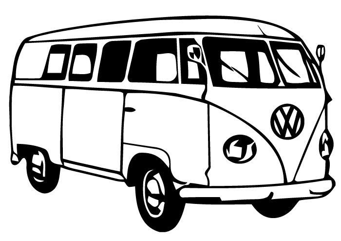 Vw bus clipart black and white jpg library Minivan clipart vintage van vw - 75 transparent clip arts ... jpg library