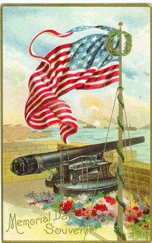 Vintage veterans day clipart picture free download Free Vintage Memorial Day and Veterans Day Greeting Cards ... picture free download