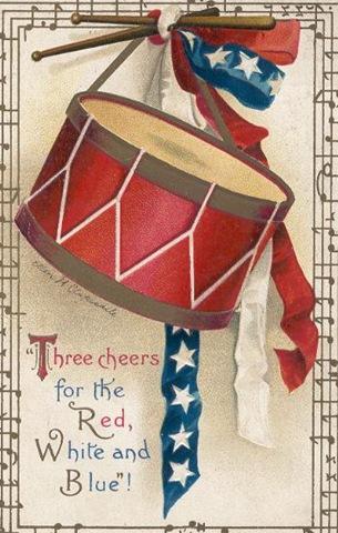 Vintage veterans day clipart clip royalty free Free Patriotic Vintage American Flag Clip Art - Vintage ... clip royalty free