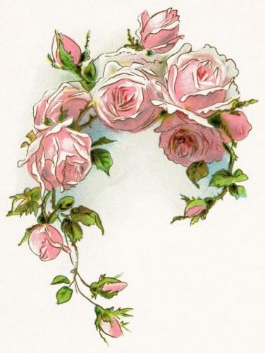 Vintage victorian flowers clipart image library victorian rose | free vintage image, free vintage clipart .. image library