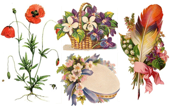 Vintage victorian flowers clipart picture stock Free Vintage Flowers Clip Art - Vintage Holiday Crafts picture stock