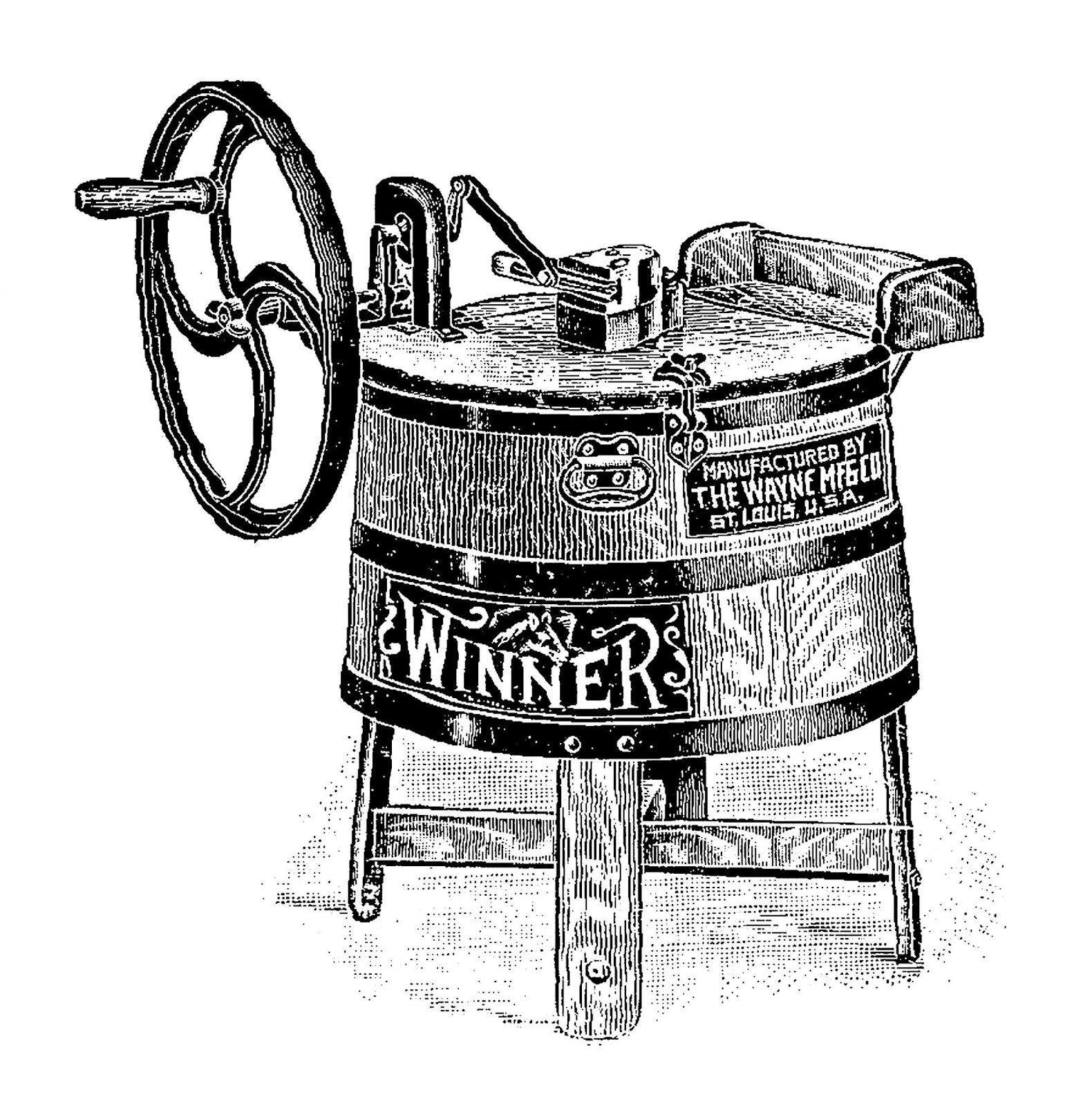 Vintage washing machine clipart clip art freeuse library Antique Images: Digital Image Transfer of Vintage Washing ... clip art freeuse library