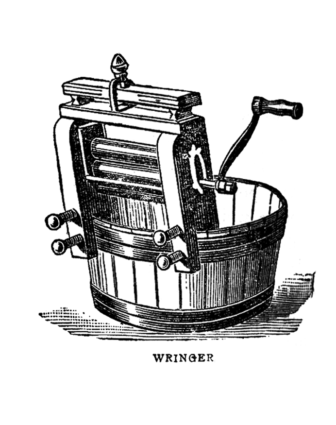 Vintage washing machine clipart picture freeuse stock Vintage Graphic Images - Laundry - Wringer and Iron - The ... picture freeuse stock