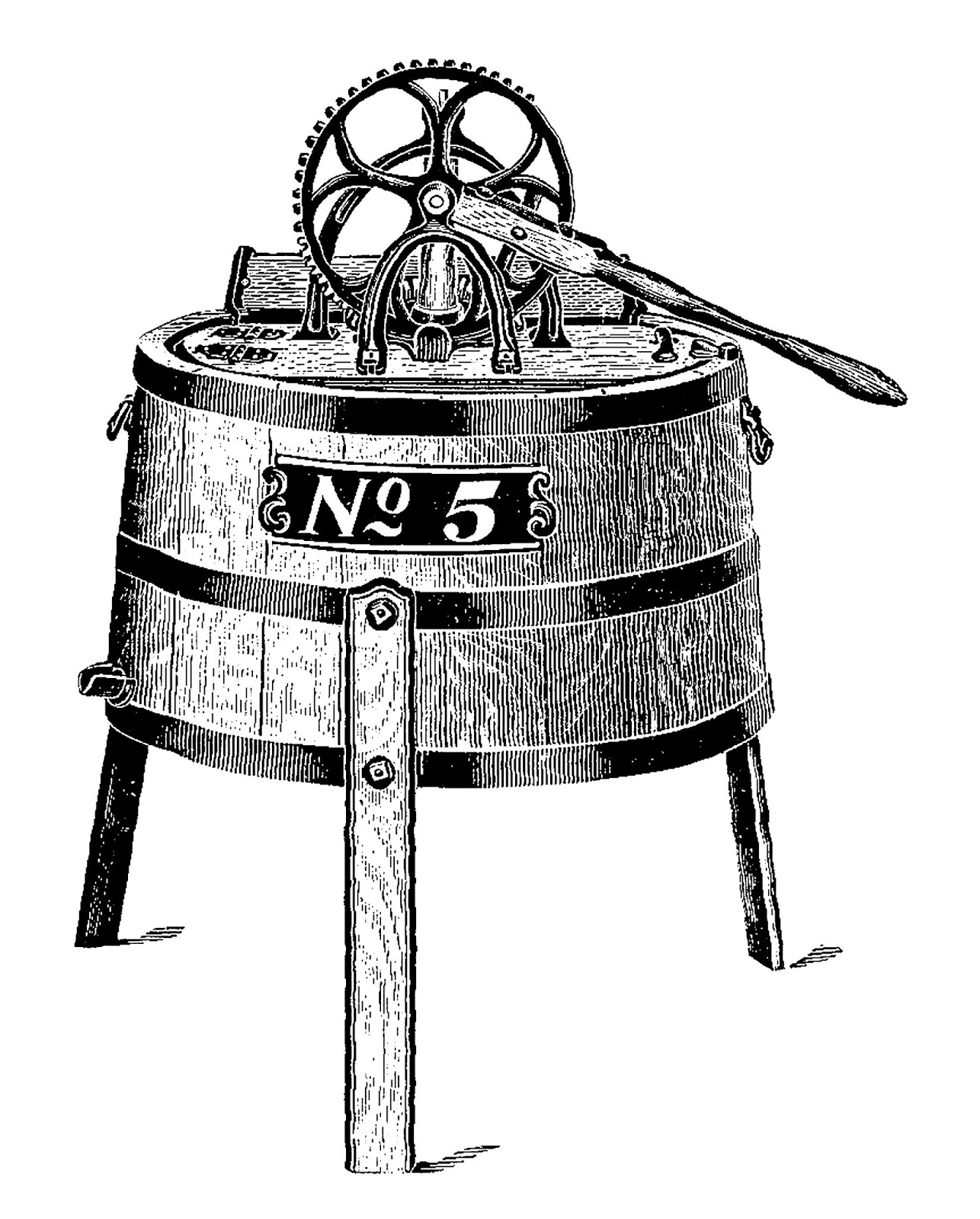 Vintage washing machine clipart svg Antique Images: Digital Image Download of Vintage Washing ... svg