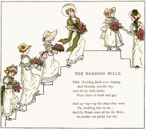 Vintage wedding bells clipart clipart freeuse stock The Wedding Bells by Kate Greenaway - Old Design Shop Blog clipart freeuse stock
