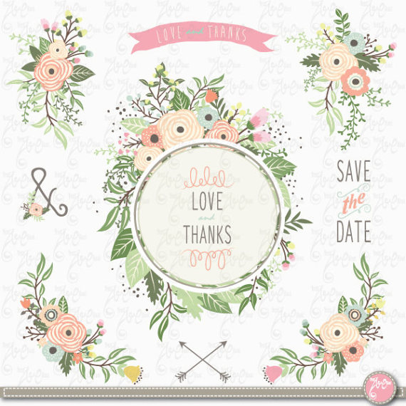 Vintage wedding bouquet clipart clip art royalty free library Wedding Clipart: \