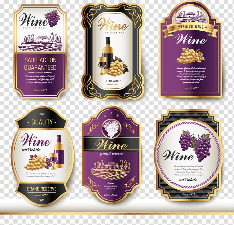 Vintage wine labels clipart clip art royalty free download Six wine bottle labels, Wine label Vintage, Wine logo ... clip art royalty free download