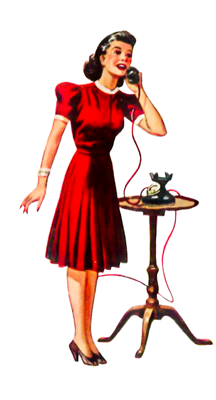 Vintage woman dress up clipart banner royalty free library Free Clip Art 1940s woman on phone | Resto Graphics Images ... banner royalty free library