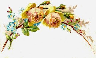Vintage yellow flower clipart clip free Antique Images: Free Flower Graphic: 2 Yellow Roses and ... clip free
