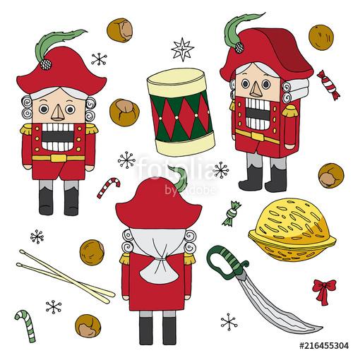 Vintage3 christmas toys clipart clip transparent Nutcracker bright christmas vintage toys clip art stickers ... clip transparent