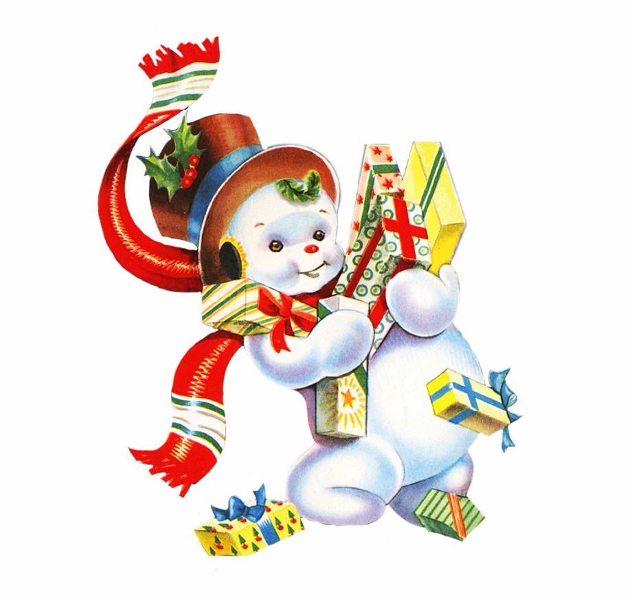 Vintage3 christmas toys clipart png royalty free Vintage Christmas Presents Png - Vintage Free Snowman ... png royalty free