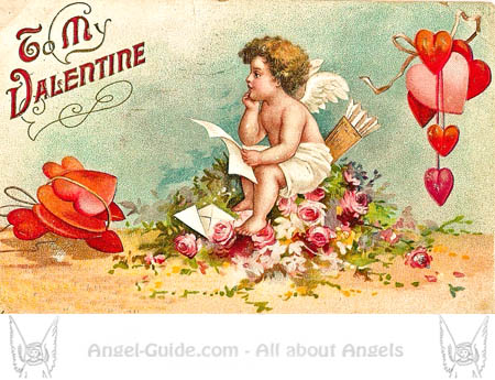 Vintagecupid clipart banner black and white stock Valentine Cupid Pictures Vintage Cupid and Arrow Pics, Our ... banner black and white stock