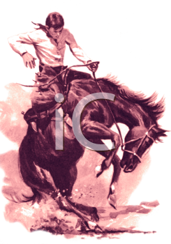 Vintagerodeo clipart graphic library Vintage Rodeo Cowboy Clip Art | Cowboy Psalms | Cowboy art ... graphic library
