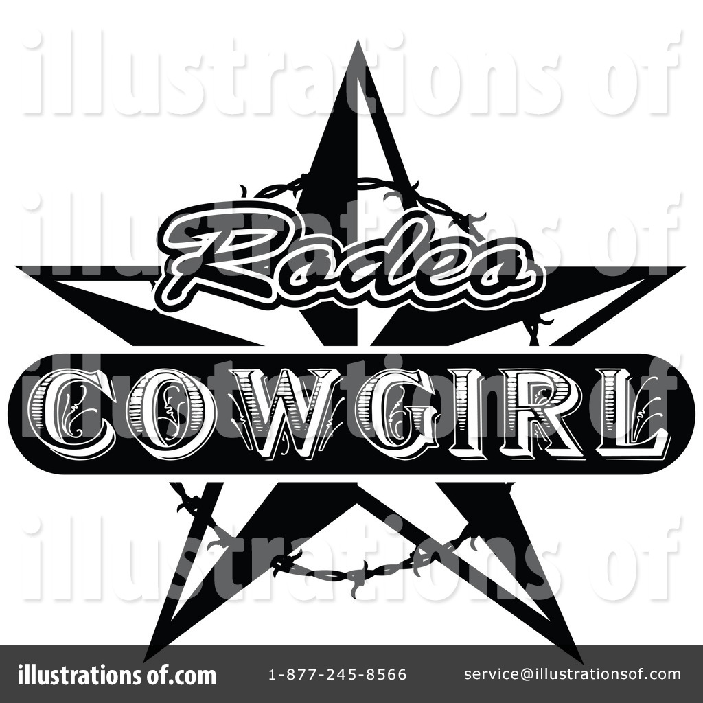 Vintagerodeo clipart svg black and white stock Rodeo Clipart #86311 - Illustration by Andy Nortnik svg black and white stock