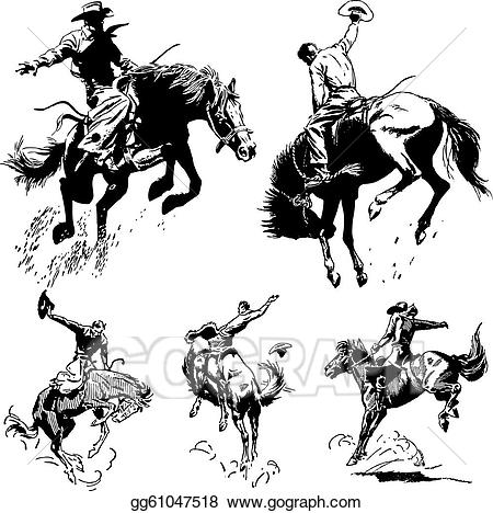 Vintagerodeo clipart clip royalty free stock Vector Art - Vector vintage rodeo graphics. EPS clipart ... clip royalty free stock