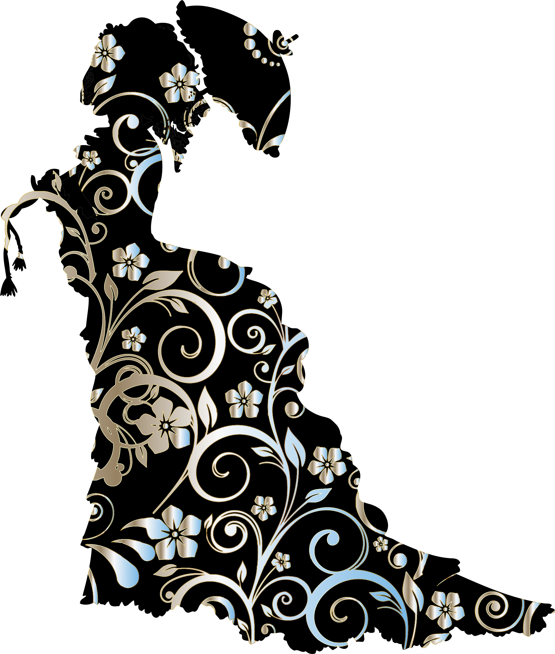Vintige ladies silhouette clipart vector stock Silhouette Clip art - victorian png download - 1898*2236 ... vector stock
