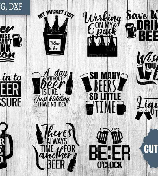 Vinyl cut clipart cheers and beers to 40 years clip art stock Beer SVG Bundle, beer drinking svg pack cut files, 12 beer ... clip art stock