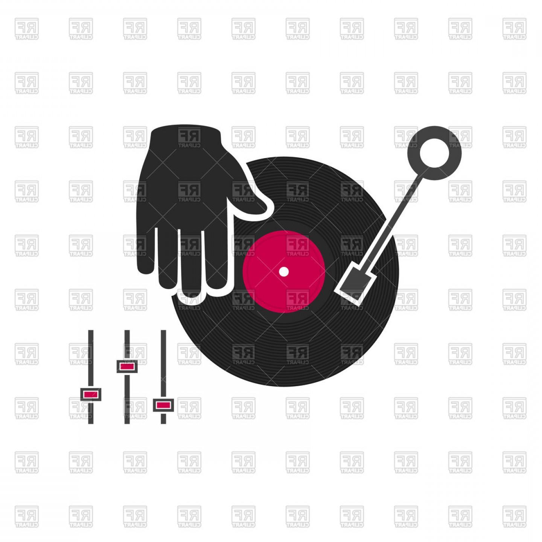 Vinyl icon clipart clip art black and white download Dj Plays Vinyl Icon Vector Clipart | SOIDERGI clip art black and white download