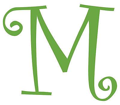 Vinyl m monogram initial clipart transparent Letter M Initial Vinyl Car Decal Window Sticker Monogram Lettering   eBay transparent