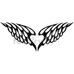 Vinyl ready vector clipart clip art vinyl ready vector wing tattoo design 078 clipart. Royalty-free clipart #  392765 clip art