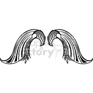 Vinyl ready vector clipart clip free vinyl ready vector wing tattoo design 050 clipart. Royalty-free clipart #  392753 clip free