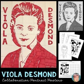 Viola desmond clipart png black and white Viola Desmond Collaboration Poster - Great Canadian Black History Month  Activity png black and white