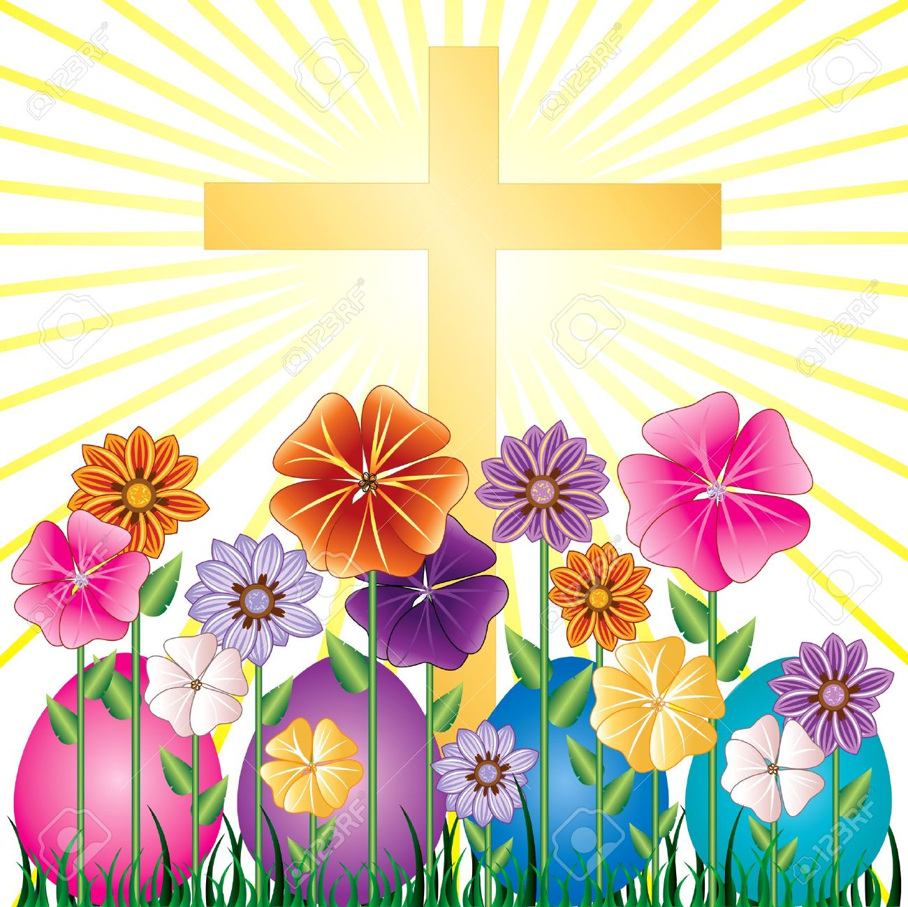 Violet daisy christian clipart picture black and white stock Free Religious Garden Cliparts, Download Free Clip Art, Free ... picture black and white stock