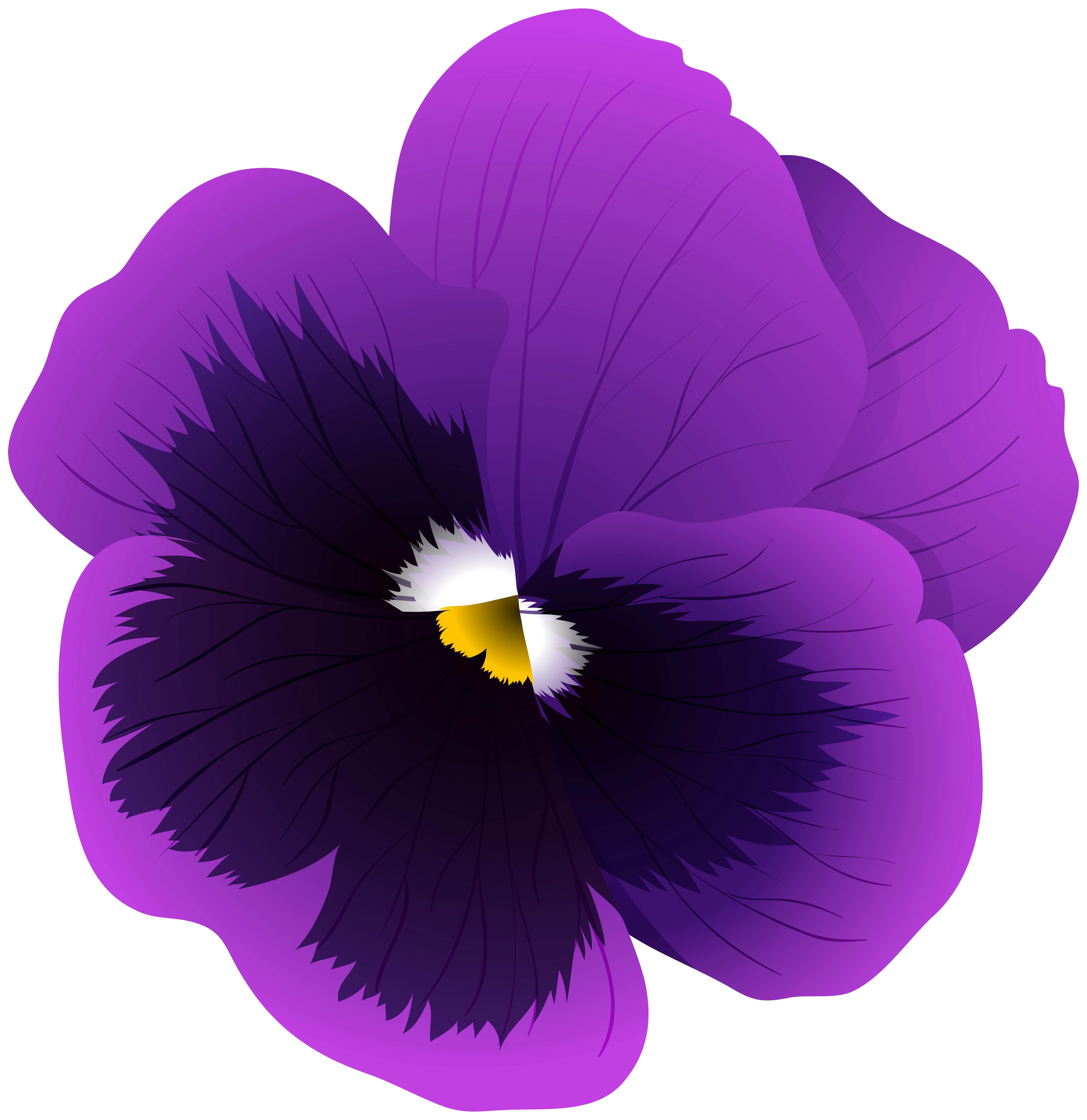 Violet flower clipart free clip free library Violet Flower Transparent PNG Clip Art Image | Gallery ... clip free library