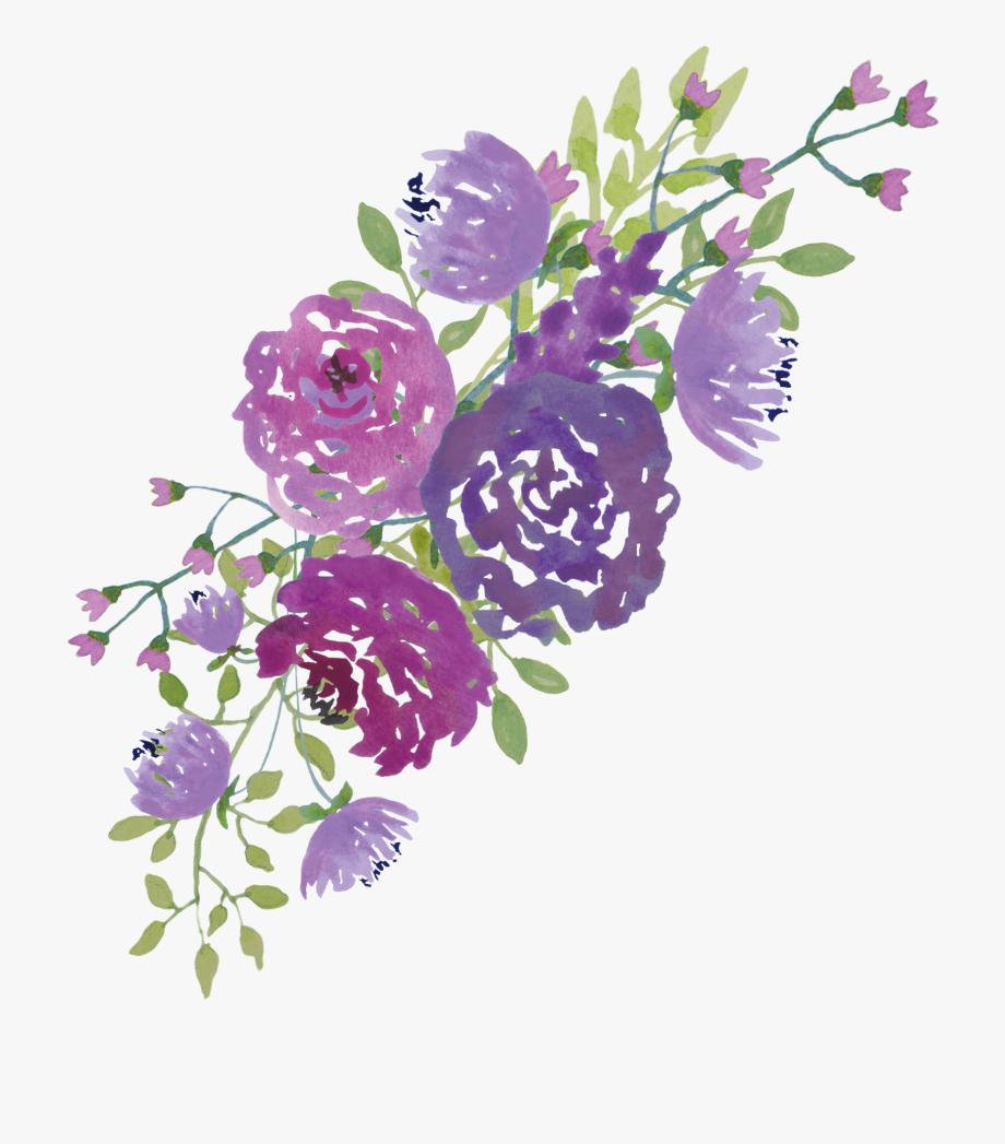 Violet flower clipart free image stock Wedding Flower Clipart Free - Watercolour Purple Flowers Png ... image stock