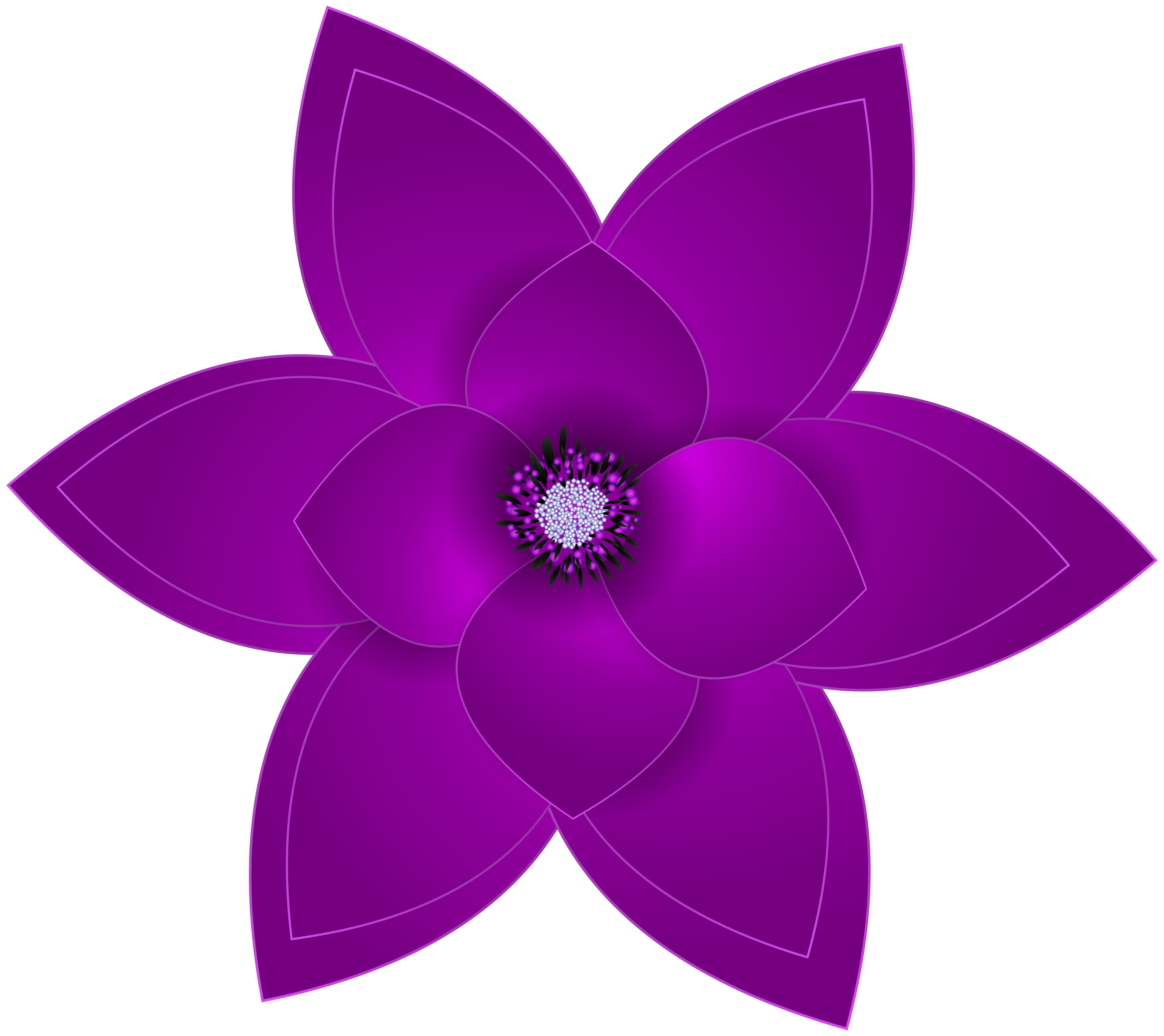 Violet images clipart clipart black and white download Purple Flowers Clipart | Free download best Purple Flowers ... clipart black and white download