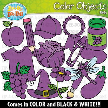 Violet objects clipart png Purple Color Objects Clipart {Zip-A-Dee-Doo-Dah Designs} png