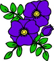 Violets clipart images svg black and white download Violet Flower Clip Art | Clipart Panda - Free Clipart Images svg black and white download