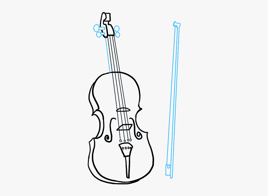 Violin clipart easy svg black and white library Fiddle Drawing Clipart Black - Draw Violin #253926 - Free ... svg black and white library