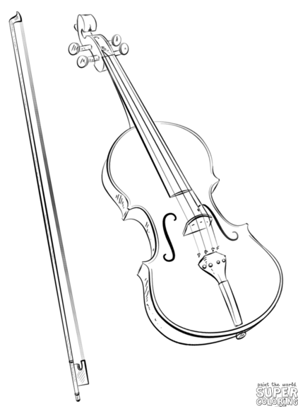 Violin clipart easy graphic transparent download How to draw a violin and bow | Step by step Drawing ... graphic transparent download