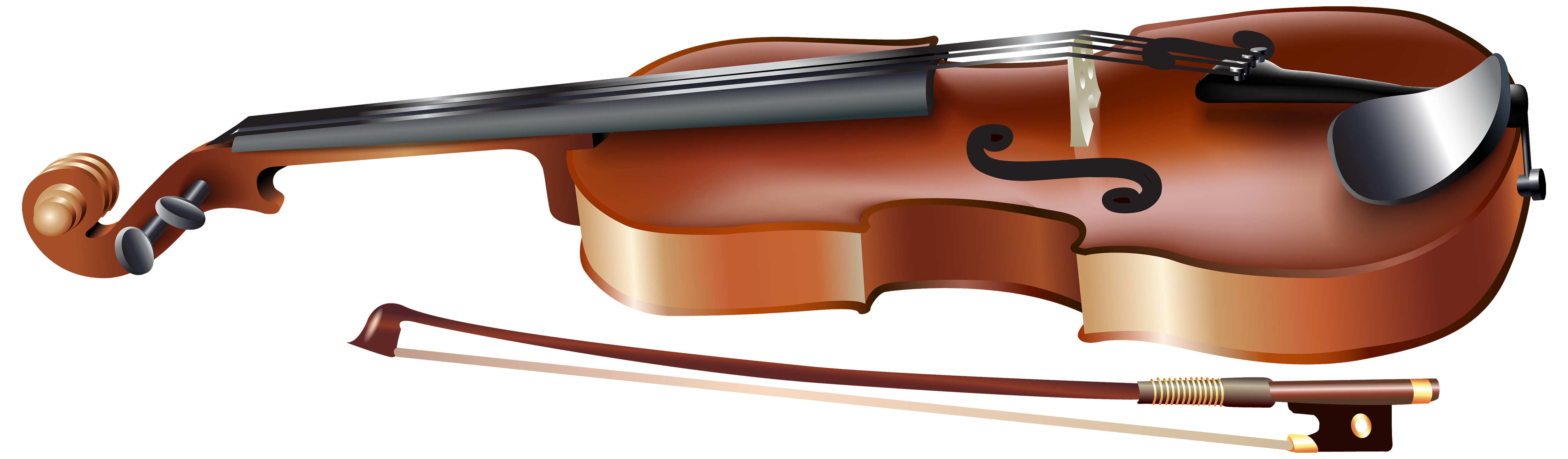 Violin clipart realistic