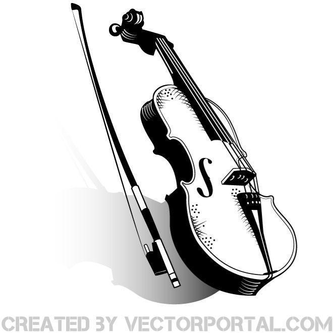 Violin clipart vector image royalty free library Violin Clip Art Free Vector image royalty free library