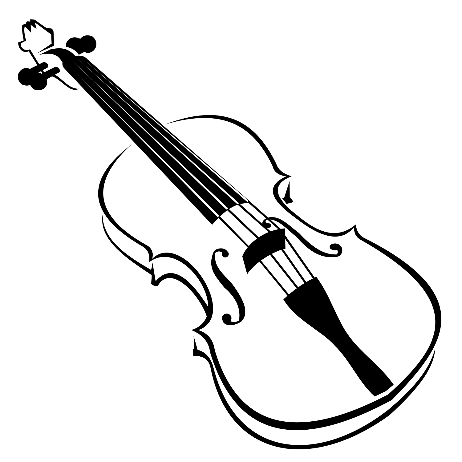 Violin clipart vector image black and white stock Vector for free use: Violin vector image black and white stock