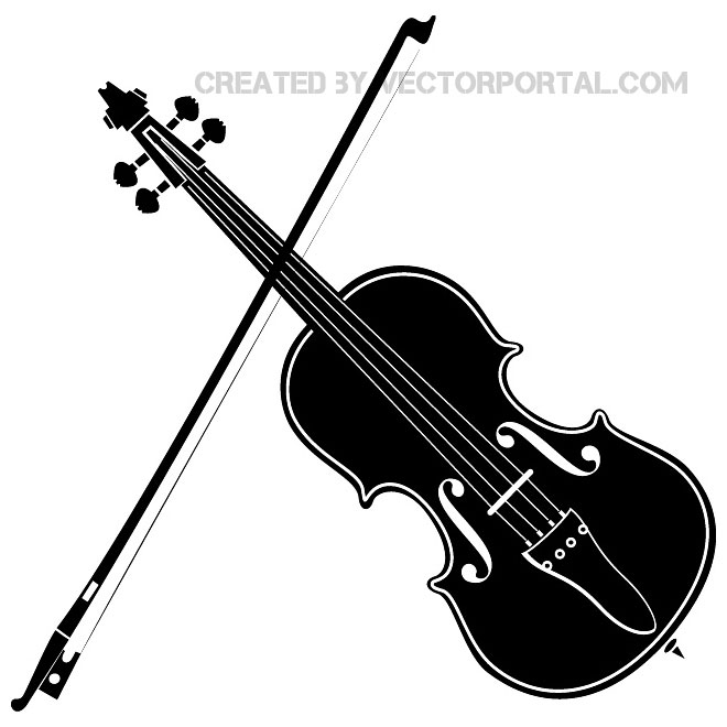 Violin clipart vector banner library download VIOLIN VECTOR IMAGE - Free vector image in AI and EPS format. banner library download