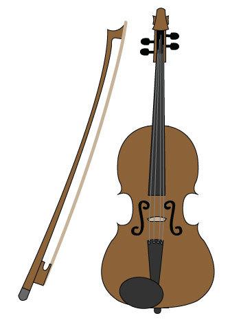 Violin clipart vector image free Violin Clip Art/ Violin Digital Download/ Violin Vector ... image free